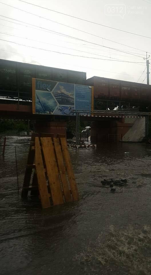 В Ужгороді сильна злива затопила дороги і тротуари: фото, відео, фото-1