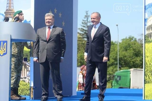 Як на кордоні в Ужгороді президент Порошенко двері у Європу відчиняв: фоторепортаж, фото-11