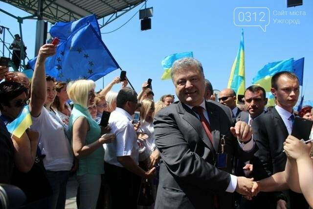 Як на кордоні в Ужгороді президент Порошенко двері у Європу відчиняв: фоторепортаж, фото-30