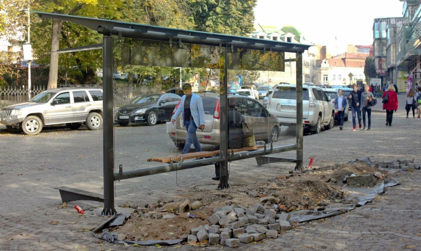 Антивандальне скло та відеоспостереження: чим дивуватимуть нові зупинки в Ужгороді? (ФОТОРЕПОРТАЖ), фото-5