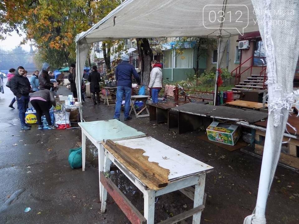 """В Ужгороді на """"Білочці"""" комунальники мерії провели рейд серед """"стихійних"""" продавців: фото, фото-6"""