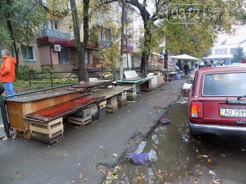 """В Ужгороді на """"Білочці"""" комунальники мерії провели рейд серед """"стихійних"""" продавців: фото, фото-4"""
