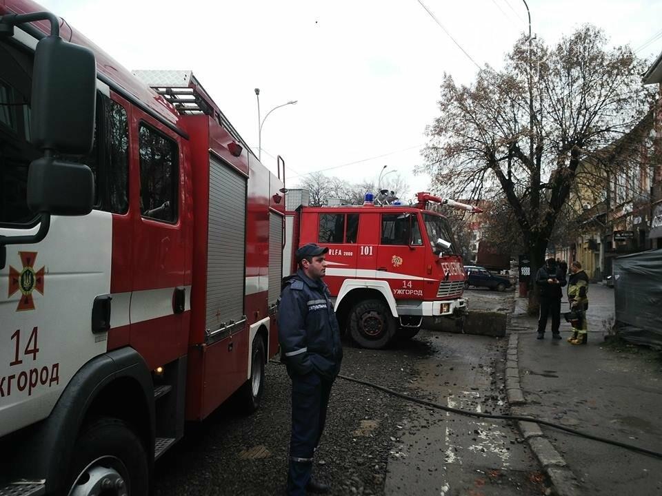 В Ужгороді на Петефі - пожежа: чоловік розпалив багаття посеред будинку (ФОТО), фото-1