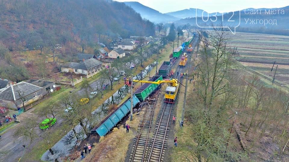 На Закарпатті з рейок з'їхав вантажний потяг (ФОТО, ВІДЕО), фото-11