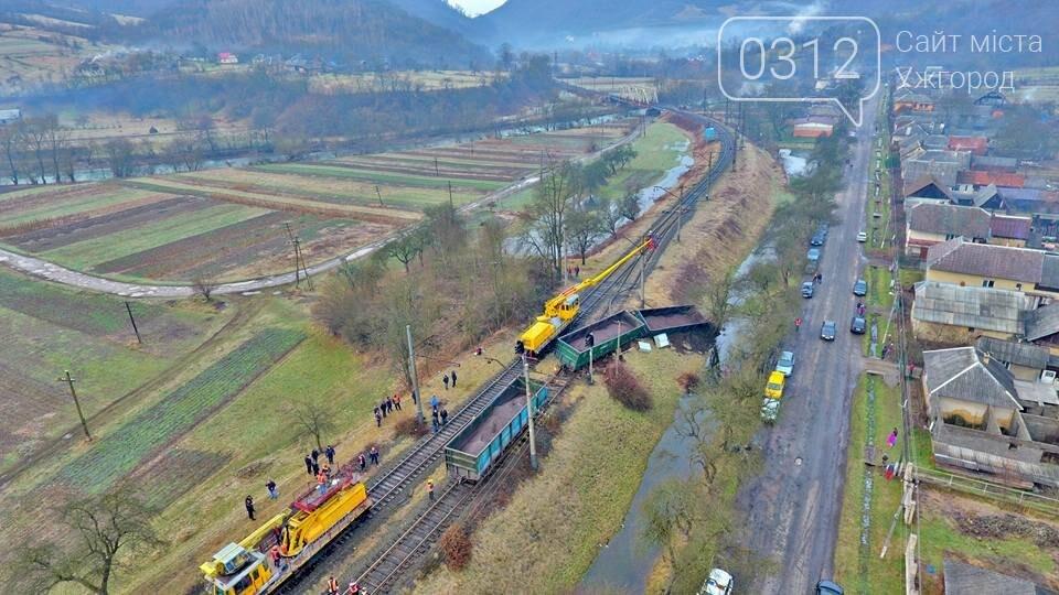 На Закарпатті з рейок з'їхав вантажний потяг (ФОТО, ВІДЕО), фото-4