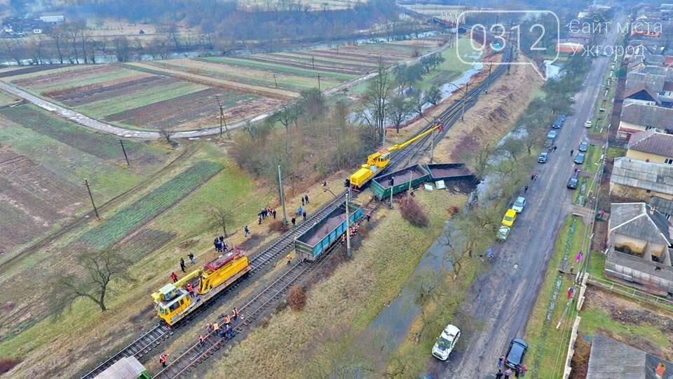 На Закарпатті з рейок з'їхав вантажний потяг (ФОТО, ВІДЕО), фото-7