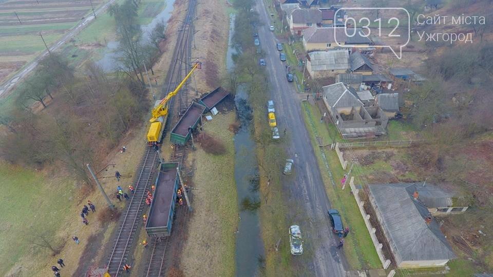 На Закарпатті з рейок з'їхав вантажний потяг (ФОТО, ВІДЕО), фото-1