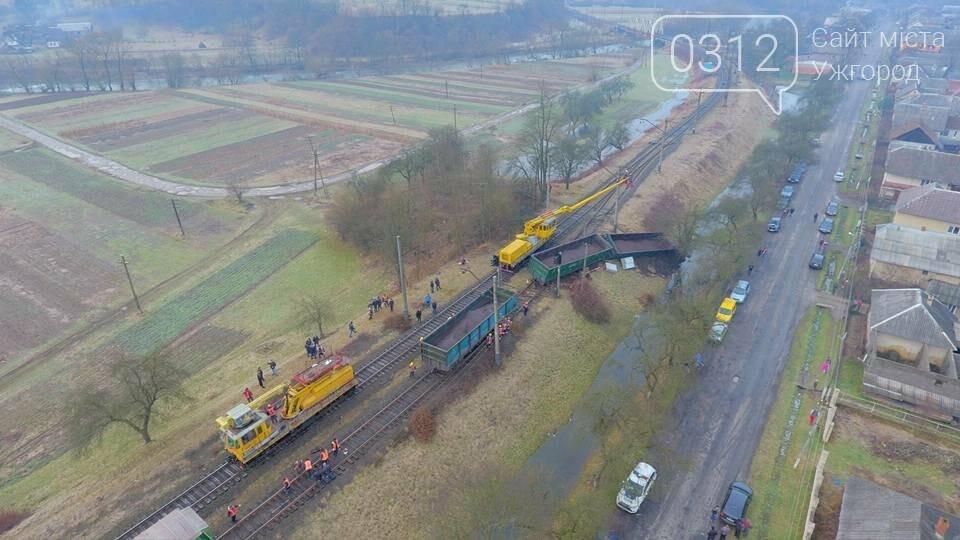 На Закарпатті з рейок з'їхав вантажний потяг (ФОТО, ВІДЕО), фото-2
