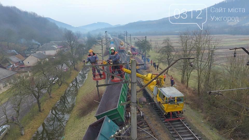 На Закарпатті з рейок з'їхав вантажний потяг (ФОТО, ВІДЕО), фото-3