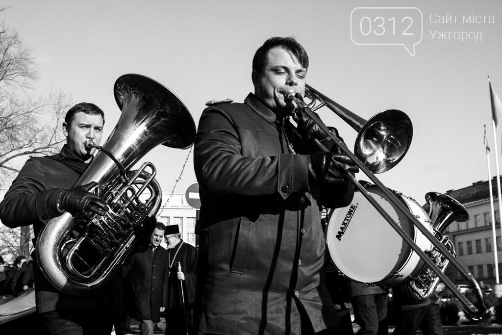 День Соборності в Ужгороді: 100-метровий прапор, урочиста музика та єднання на мості (ФОТОРЕПОРТАЖ, ВІДЕО), фото-9