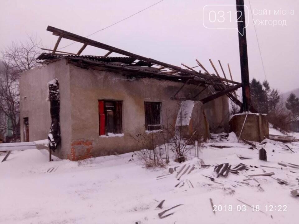 На Перечинщині шквальний вітер зніс дах на шкільній котельні (+ ФОТО), фото-1