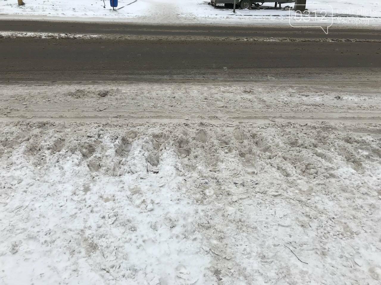 Ужгородські вулиці ще нерозчищені повністю, хоча спецтехніка активно працює (ФОТО), фото-10