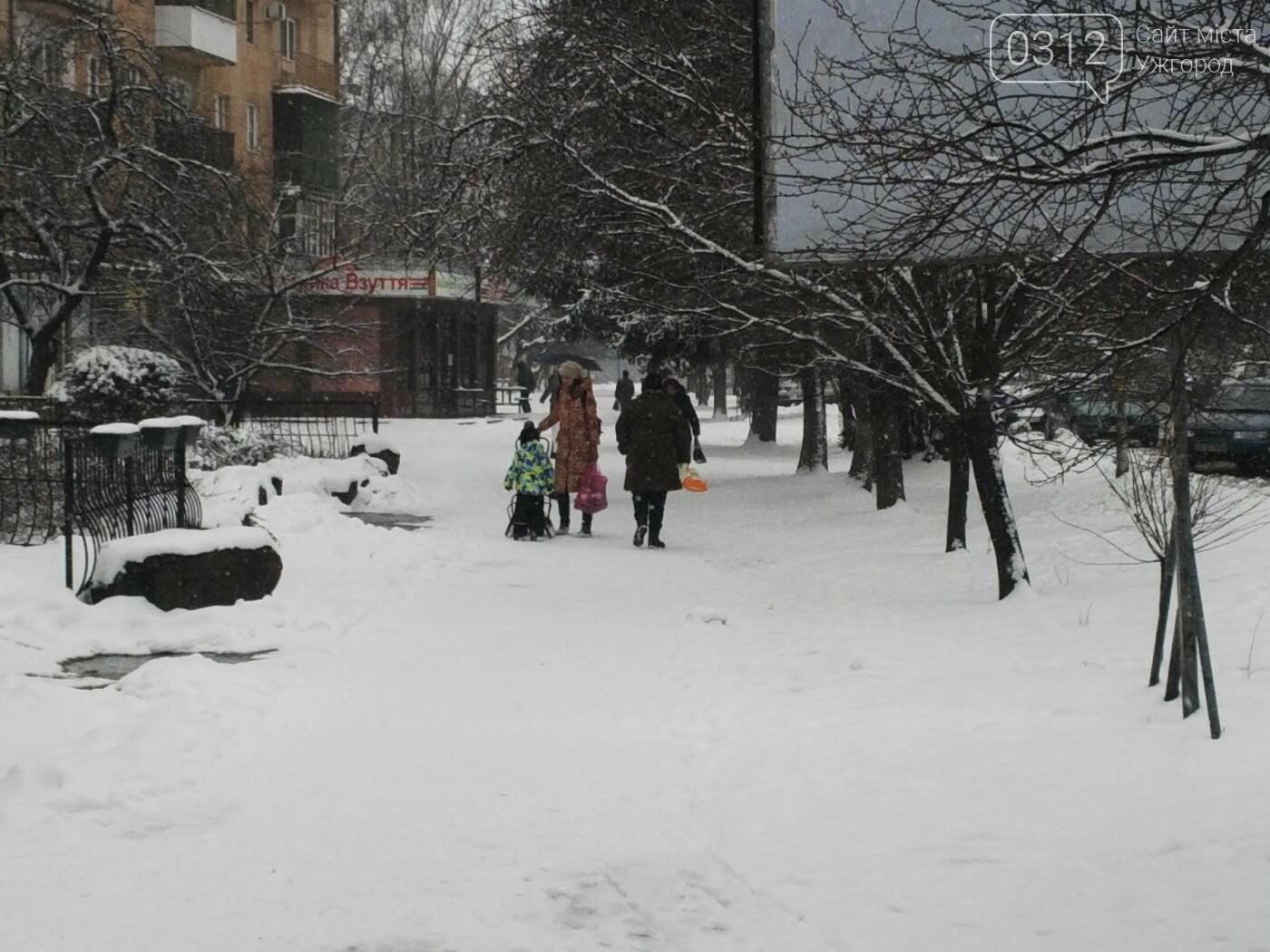 Ужгород - наодинці зі снігом: тротуари не розчищені та непідсипані, у двори не ступала нога комунальника (ФОТОРЕПОРТАЖ), фото-5