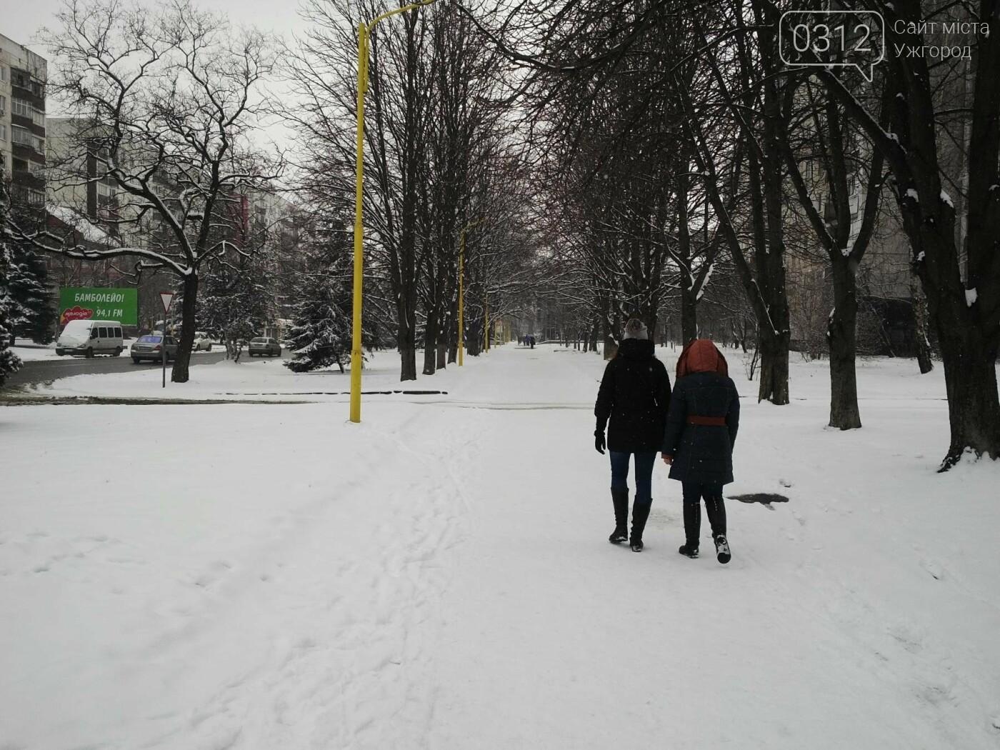 Ужгород - наодинці зі снігом: тротуари не розчищені та непідсипані, у двори не ступала нога комунальника (ФОТОРЕПОРТАЖ), фото-8