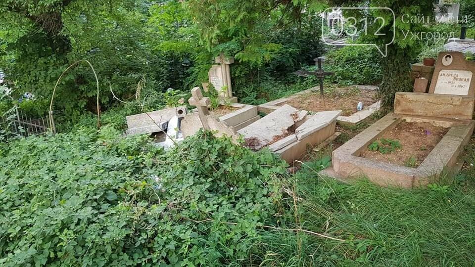 В Ужгороді на Кальварії вандали повалили хрести на надгробні плити (ОНОВЛЕНО, ФОТО), фото-2