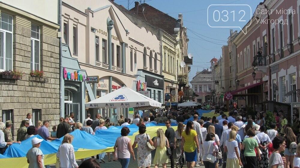 Береги Ужа з'єднали 100-метровим прапором України (ФОТО, ВІДЕО), фото-7