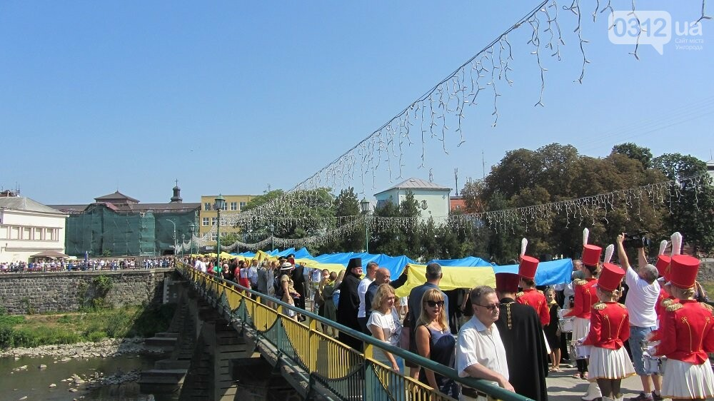 Береги Ужа з'єднали 100-метровим прапором України (ФОТО, ВІДЕО), фото-4