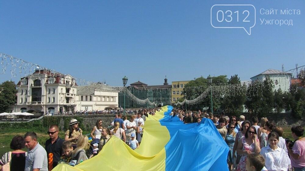 Береги Ужа з'єднали 100-метровим прапором України (ФОТО, ВІДЕО), фото-5