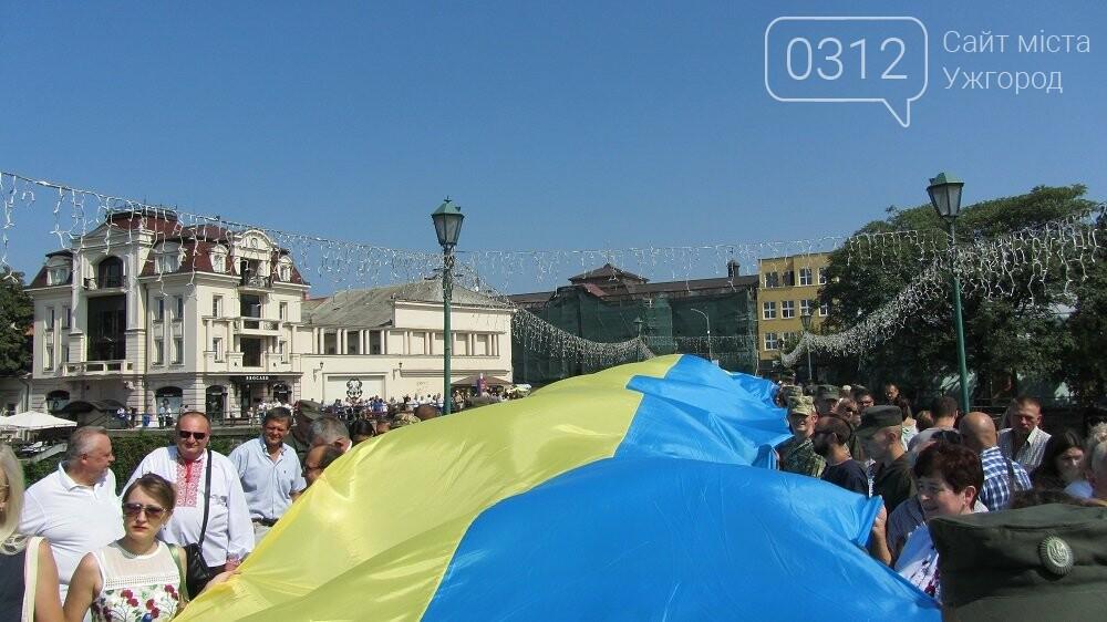 Береги Ужа з'єднали 100-метровим прапором України (ФОТО, ВІДЕО), фото-6
