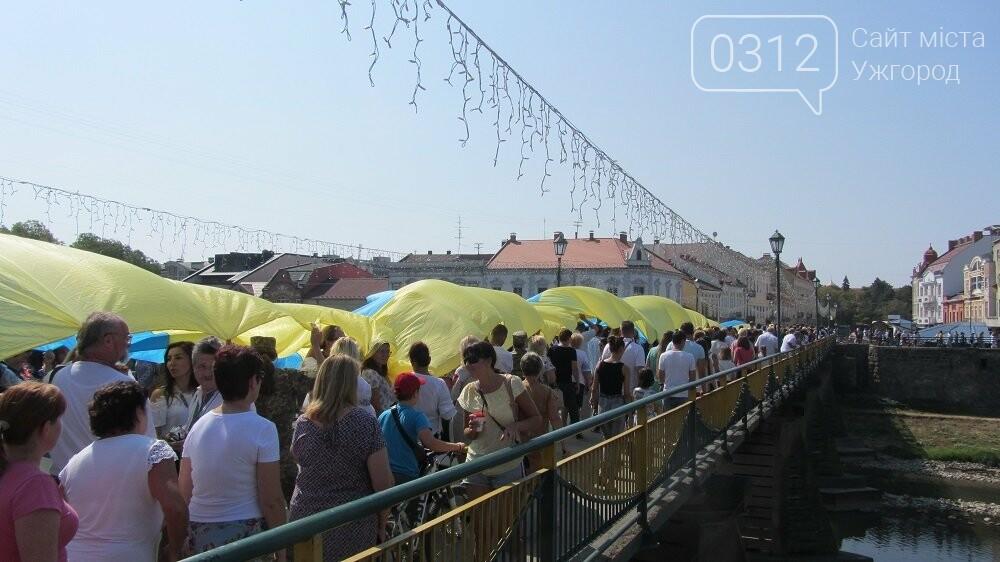 Береги Ужа з'єднали 100-метровим прапором України (ФОТО, ВІДЕО), фото-3