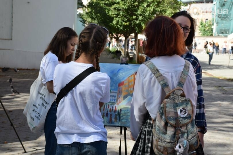 Панораму мальовничого Ужгорода створювали юні художники обласного центру (ФОТОРЕПОРТАЖ) , фото-7