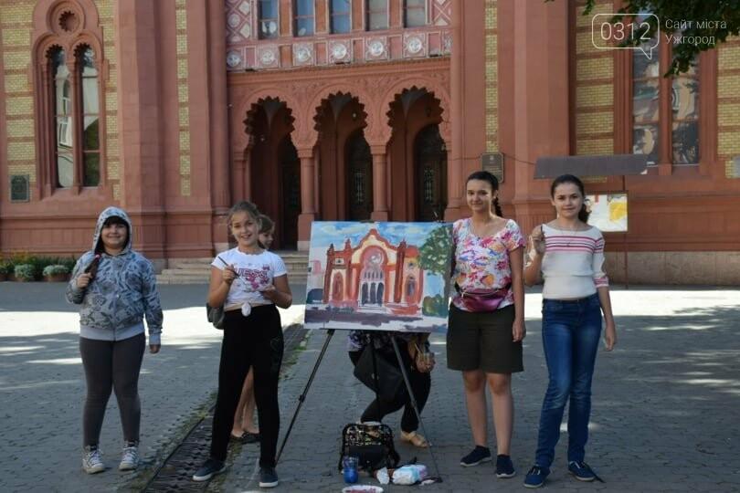 Панораму мальовничого Ужгорода створювали юні художники обласного центру (ФОТОРЕПОРТАЖ) , фото-8