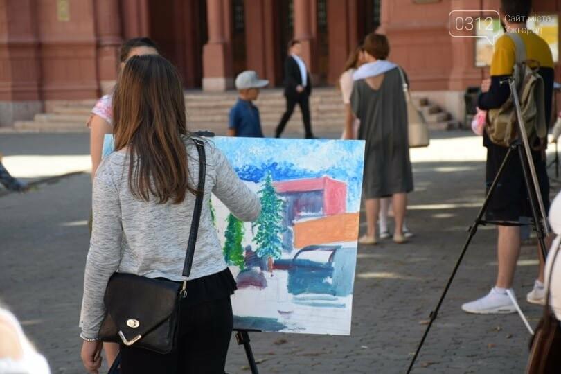 Панораму мальовничого Ужгорода створювали юні художники обласного центру (ФОТОРЕПОРТАЖ) , фото-10
