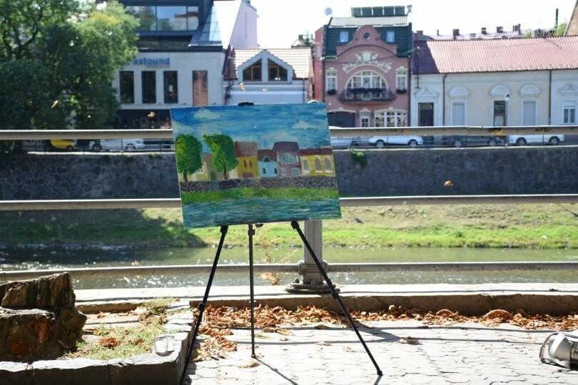 Панораму мальовничого Ужгорода створювали юні художники обласного центру (ФОТОРЕПОРТАЖ) , фото-14