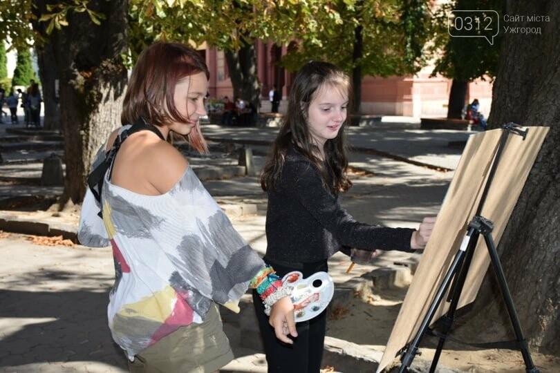 Панораму мальовничого Ужгорода створювали юні художники обласного центру (ФОТОРЕПОРТАЖ) , фото-1