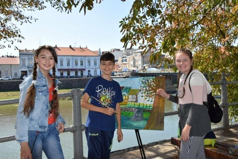 Панораму мальовничого Ужгорода створювали юні художники обласного центру (ФОТОРЕПОРТАЖ) , фото-2