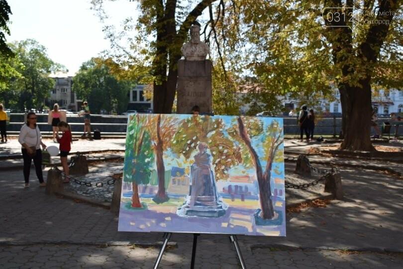Панораму мальовничого Ужгорода створювали юні художники обласного центру (ФОТОРЕПОРТАЖ) , фото-6
