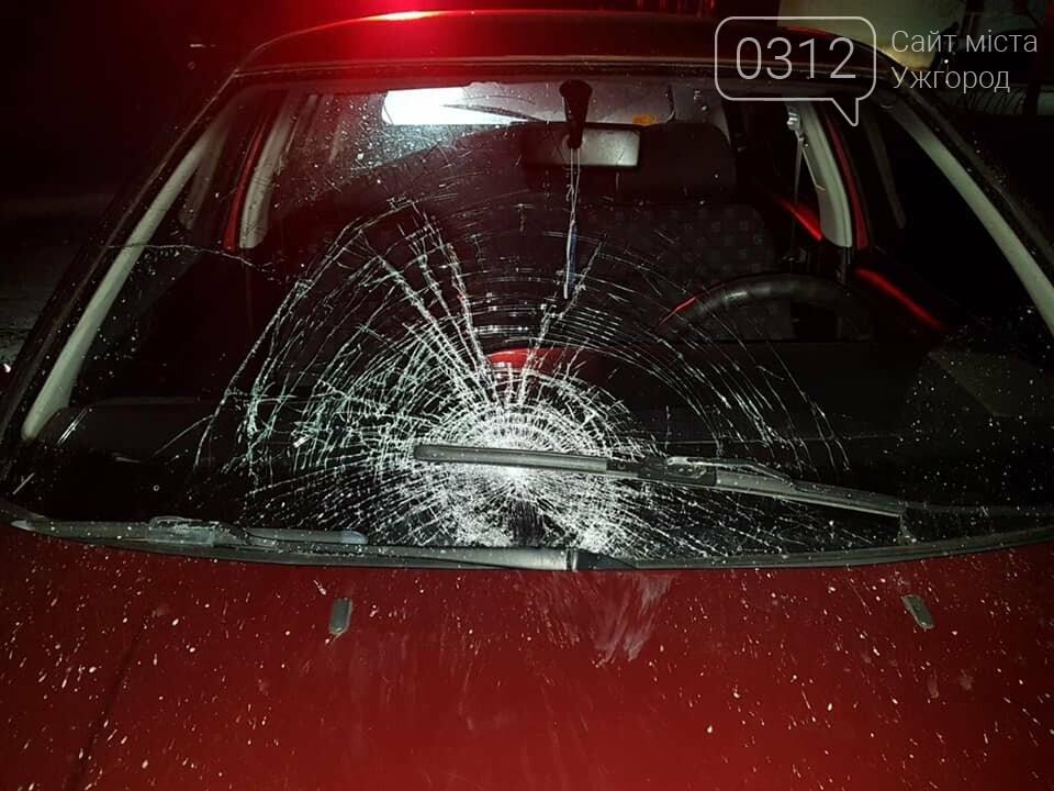 На Закарпатті водій збив пішохода, який перебігав дорогу. Жінка у лікарні з важкими травмами, фото-1