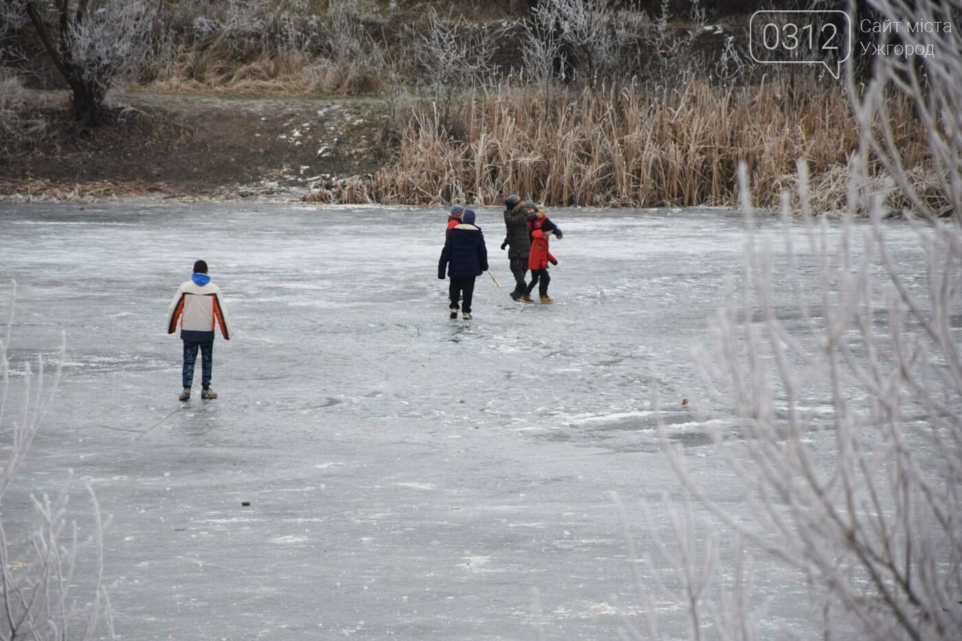 Ужгородський парк «Кірпічка»: засніжений і без снігу, фото-4