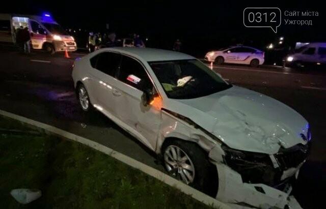 Нічна ДТП неподалік Мукачева: в аварії зіткнулися два автомобілі, фото-1