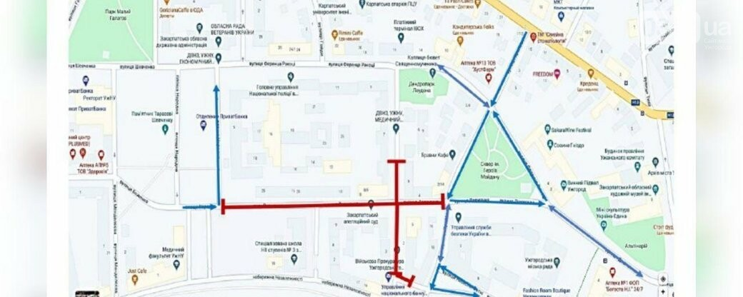 Відомі вулиці, де буде обмежено рух через навчання за участі СБУ, фото-1
