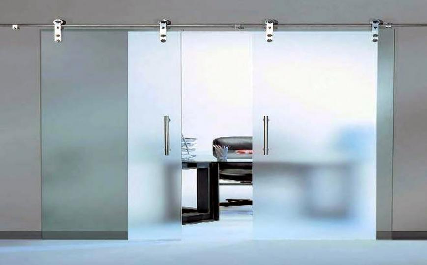Розсувні скляні двері, фото-1