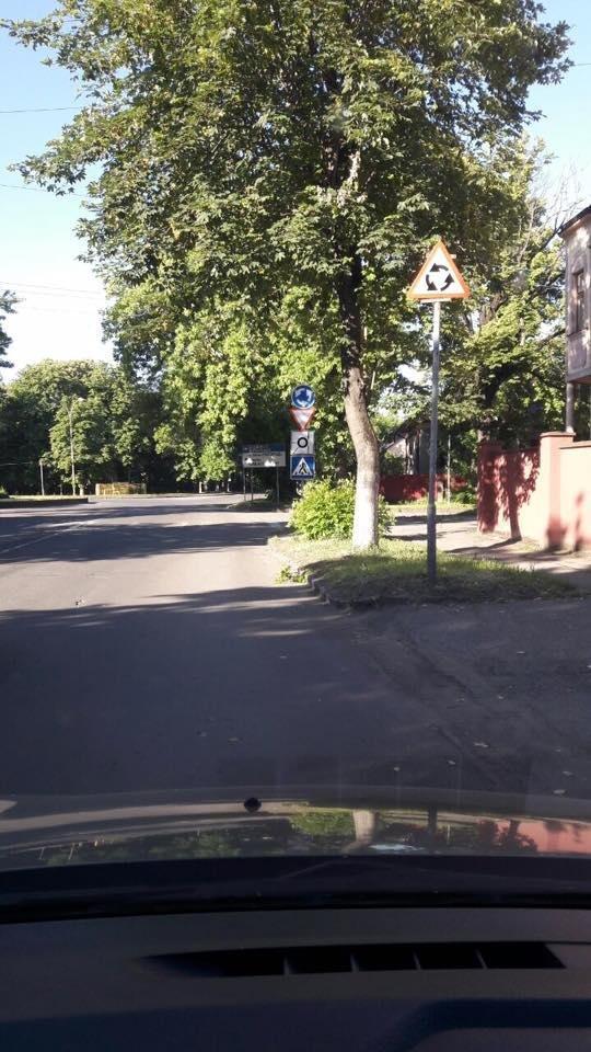 В Ужгороді на колах площ Б.Хмельницького і Дружби народів з'явилися нові знаки: фото, фото-5