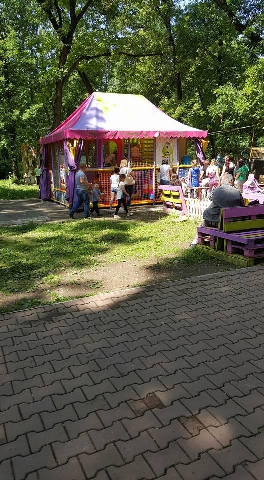 """Як ужгородська малеча на безкоштовних атракціонах у Боздоському парку """"каталася"""", фото-3"""