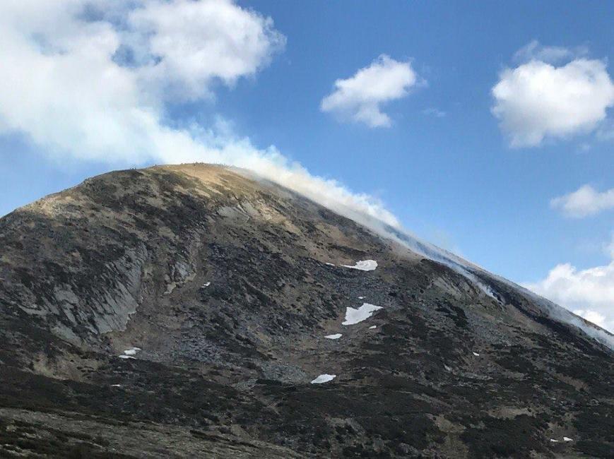 На Говерлі сталась масштабна пожежа: фото, фото-2