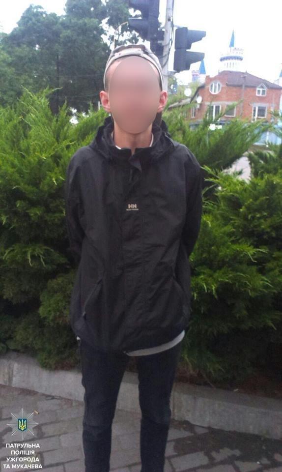 В Ужгороді на Собранецькій патрульні затримали молодиків із револьвером та кастетом: фото, фото-2