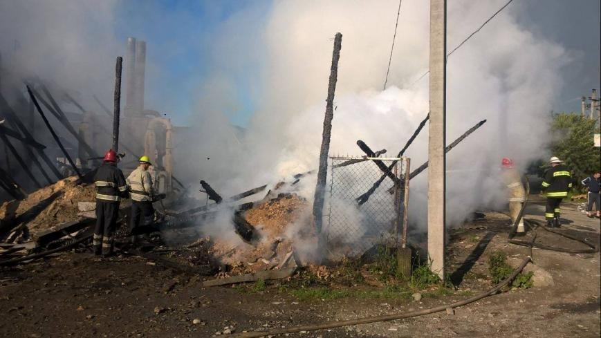 На Рахівщині сталась масштабна пожежа на деревообробному підприємстві: фото, фото-1