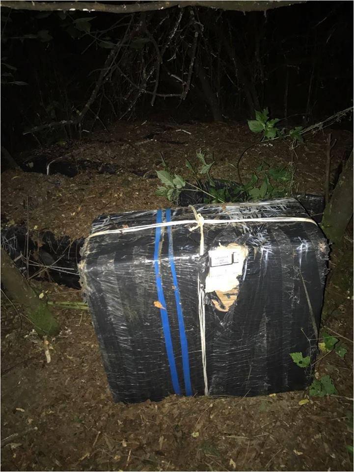 Серед ночі закарпатські прикордонники виявили 9 ящиків контрабандних цигарок: фото, фото-1