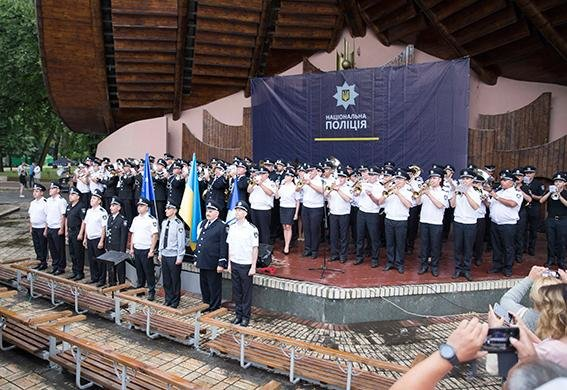 Закарпатський оркестр Нацполіції долучився до рекорду України з виконання гімну Євросоюзу: відео, фото-4