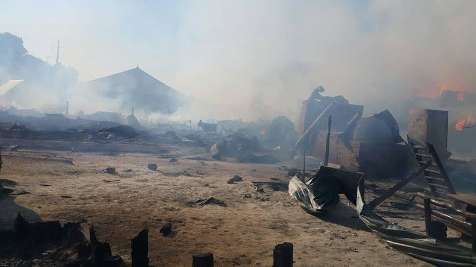 Масштабна пожежа у Солотвині -  вогонь знищив частину комплексу турбази: фото, відео, фото-3