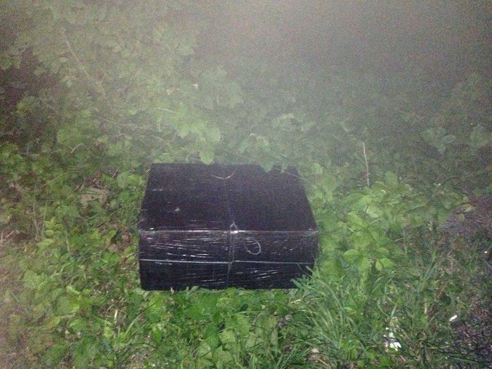 На Закарпатті невідомі, побачивши прикордонників, залишили 2 тисячі пачок цигарок і втекли на авто: фото, фото-3