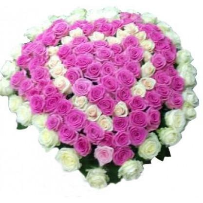 Букеты из 101 розы – роскошный презент для любимых, фото-1