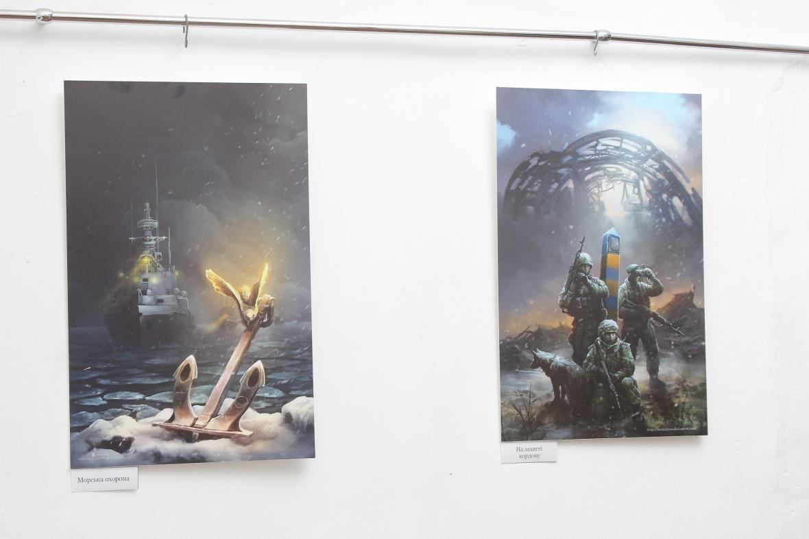 """Героїчні картини: у Мукачеві відкрили виставку """"Кордон"""" з історіями охоронців України, фото-3"""