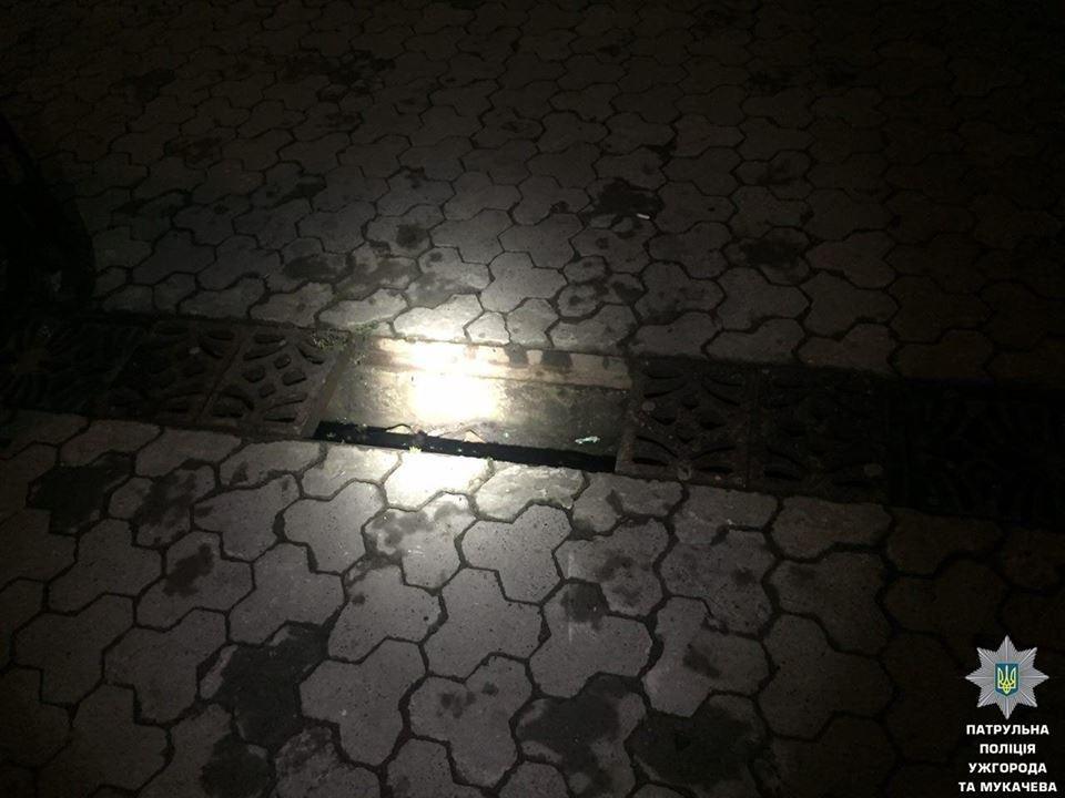 В Ужгороді затримали молодиків, які крали металеві люки у центрі міста: фото, фото-5
