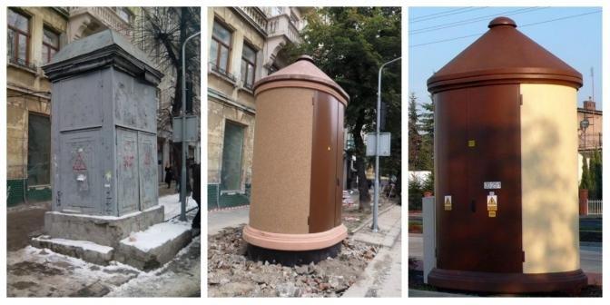 """За прикладом Варшави у центрі Ужгорода встановили """"дивну"""" електропідстанцію (ФОТО), фото-1"""