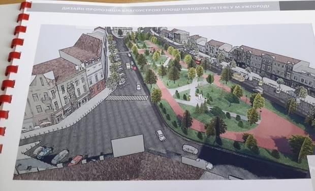 2 роки реконструкції: на Петефі буде фонтан, а всю територію викладуть бруківкою (ВІДЕО), фото-2